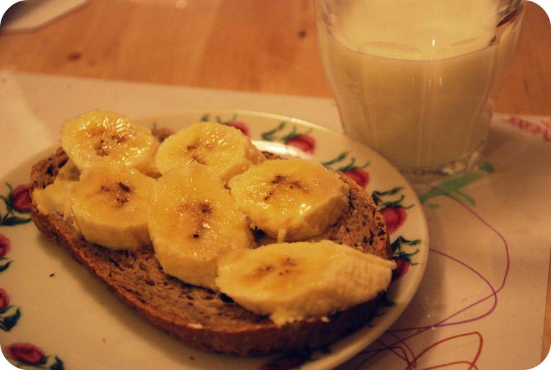 Bananbrødskive